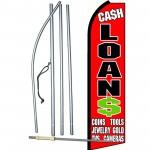 Cash Loans Extra Wide Swooper Flag Bundle