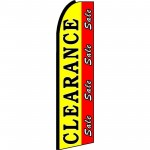 Clearance Sale Red Yellow Extra Wide Swooper Flag