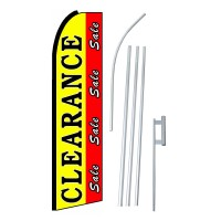 Clearance Sale Red Yellow Extra Wide Swooper Flag Bundle