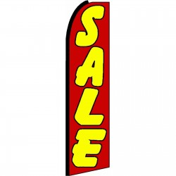 Sale Red Yellow Extra Wide Swooper Flag