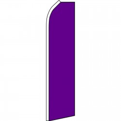 Solid Purple Swooper Flag