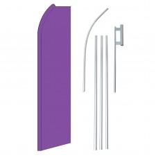 Solid Purple Swooper Flag Bundle