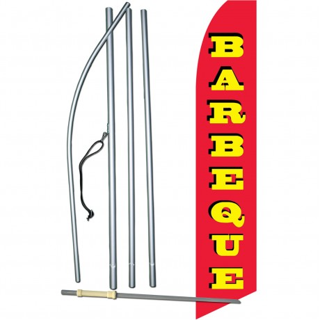 Barbeque Red Swooper Flag Bundle