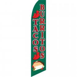 Tacos Burritos Swooper Flag