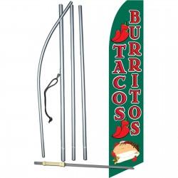 Tacos Burritos Swooper Flag Bundle