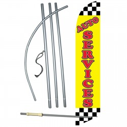 Auto Services Windless Swooper Flag Bundle