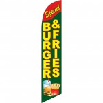 Burger & Fries Special Windless Swooper Flag