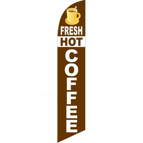 Fresh Hot Coffee Windless Swooper Flag