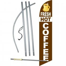 Fresh Hot Coffee Windless Swooper Flag Bundle