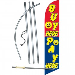 Buy Here Pay Here Windless Swooper Flag Bundle