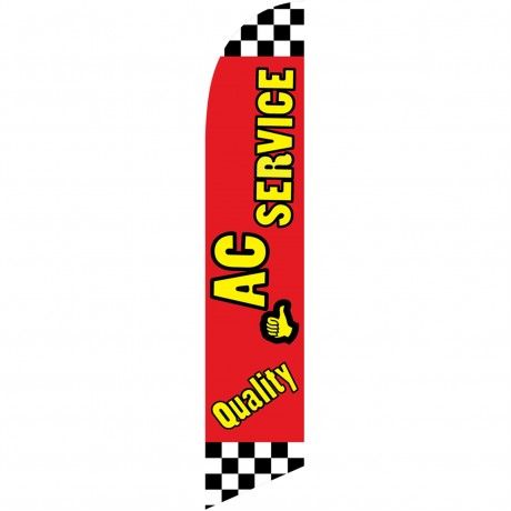 Quality A/C Service Windless Swooper Flag