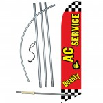 Quality A/C Service Windless Swooper Flag Bundle