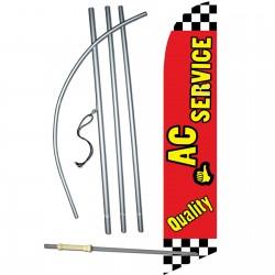 Quality A/C Service Windless Swooper Flag Bundle