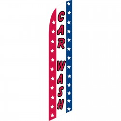 Car Wash Patriotic Windless Swooper Flag