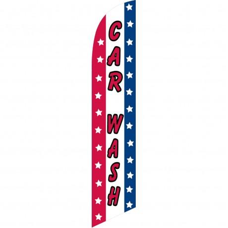 Car Wash Patriotic Windless Swooper Flag