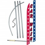 Car Wash Patriotic Windless Swooper Flag Bundle