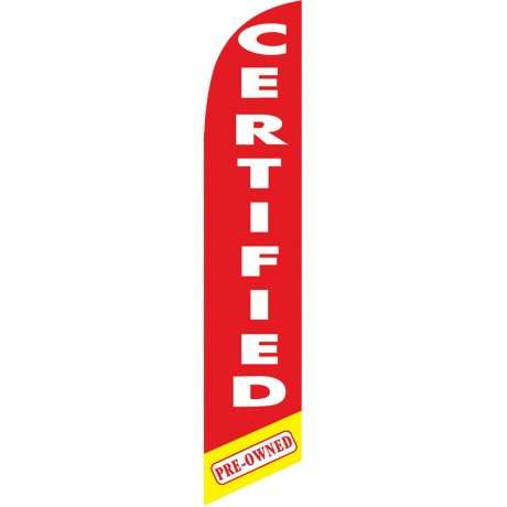 Certified Pre-Owned Red Windless Swooper Flag