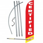 Certified Pre-Owned Red Windless Swooper Flag Bundle