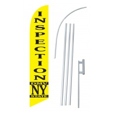 DMV Inspection NY State Windless Swooper Flag Bundle