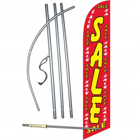 Sale Red Dollars Windless Swooper Flag Bundle