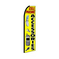 Cell Phone Accessories Yellow Extra Wide Swooper Flag