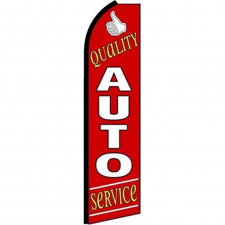 Quality Auto Service Extra Wide Swooper Flag
