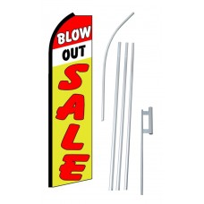 Blow Out Sale Extra Wide Swooper Flag Bundle