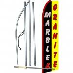 Marble & Granite Extra Wide Swooper Flag Bundle