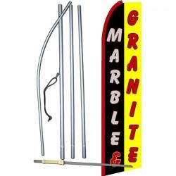 Marble - Granite Extra Wide Swooper Flag Bundle