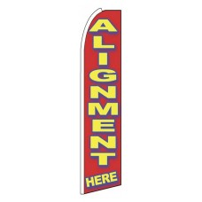 Alignment Here Red Extra Wide Swooper Flag