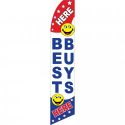 Best Buys Here Smiley Face Swooper Flag