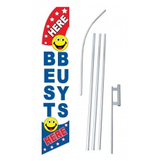 Best Buys Smiley Face Swooper Flag Bundle
