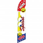 Look Special Smiley Face Swooper Flag