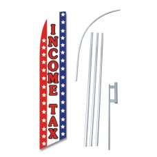 Income Tax Stars And Stripes Windless Swooper Flag Bundle