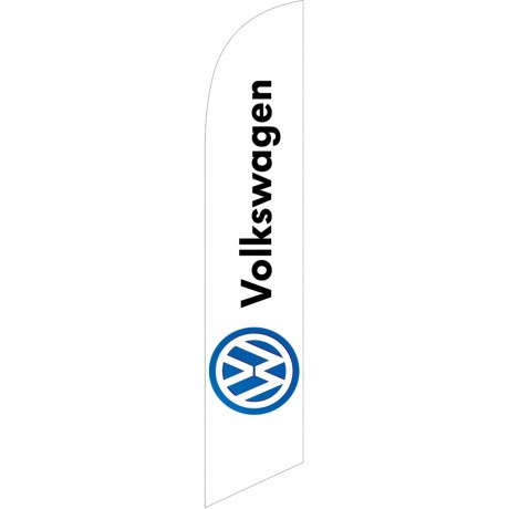 Volkswagen White Windless Swooper Flag