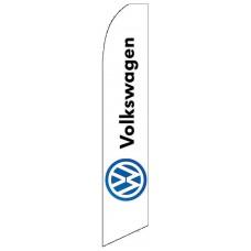 Volkswagen White Swooper Flag