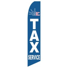 Liberty Tax Service Blue Swooper Flag