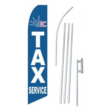 Liberty Tax Service Blue Swooper Flag Bundle
