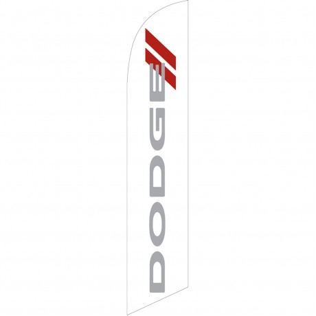 Dodge White Windless Swooper Flag