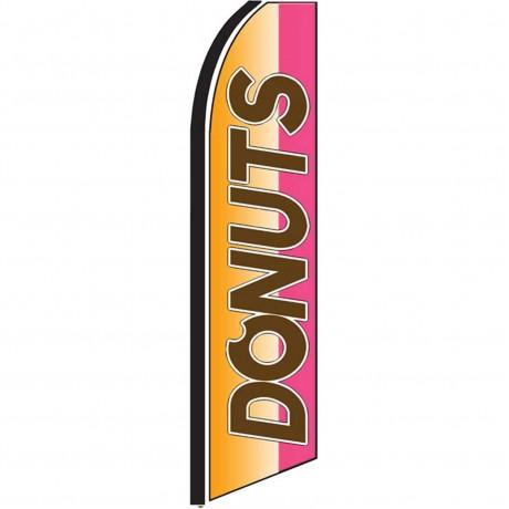 Donuts Orange Extra Wide Swooper Flag