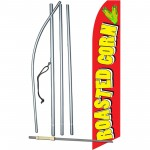 Roasted Corn Red Extra Wide Swooper Flag Bundle