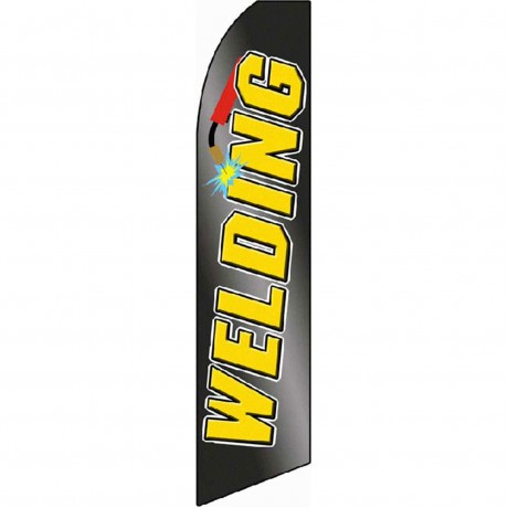 Welding Black/Yellow Extra Wide Swooper Flag