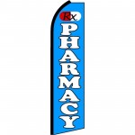Pharmacy RX Blue Extra Wide Swooper Flag
