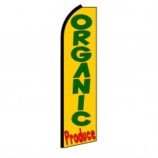 Organic Produce Yellow Extra Wide Swooper Flag