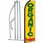 Organic Produce Yellow Extra Wide Swooper Flag Bundle