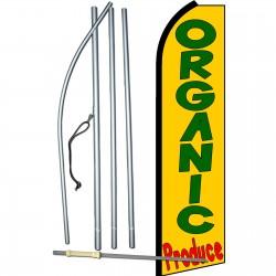 Organic Produce Yellow Extra Wide Swooper Flag Bundle