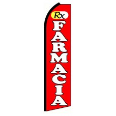 Farmacia RX Red Extra Wide Swooper Flag