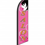Salon Pink Extra Wide Swooper Flag