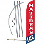 Mattress Sale Red Blue Windless Swooper Flag Bundle