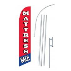 Mattress Sale R/B Windless Swooper Flag Bundle